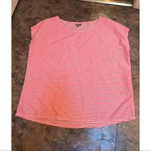 Aerie Pink and White Striped Boxy Tee